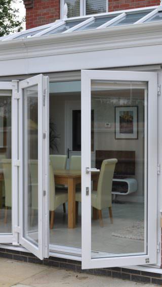 White uPVC Bi-Fold Doors & uPVC u0026 Aluminium Windows and Doors | Sternfenster Window Systems