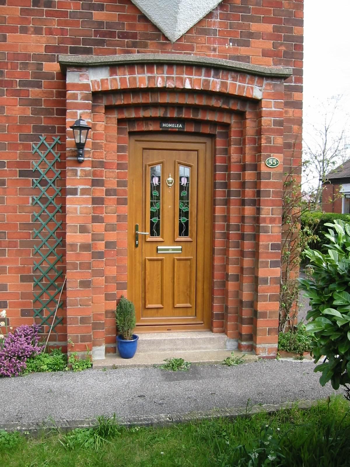 Upvc residential doors deceuninck doors front doors for Residential front doors
