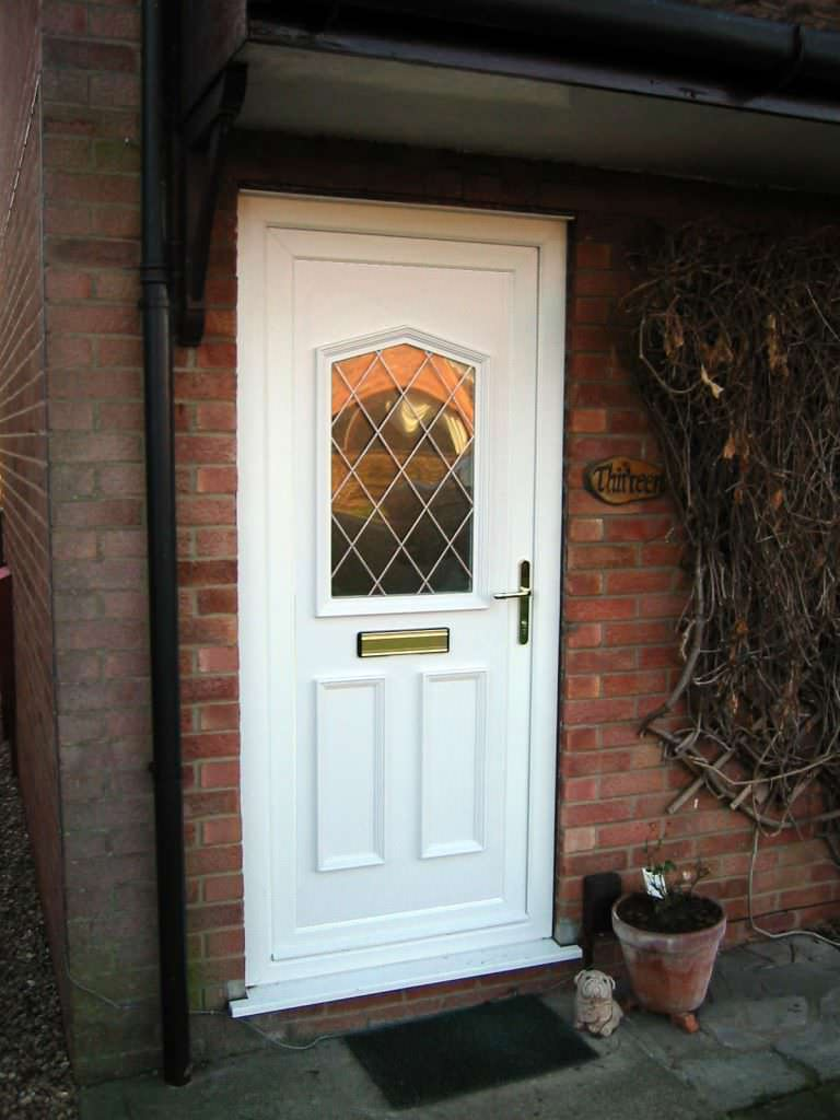 White Deceuninck uPVC Residential Door