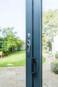 Blue Aluminium Bi-Fold Doors