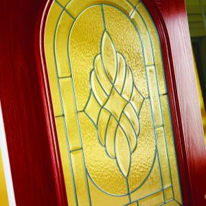red Composite Door window