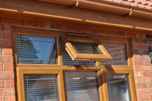 brown Deceuninck 2800 Casement Windows