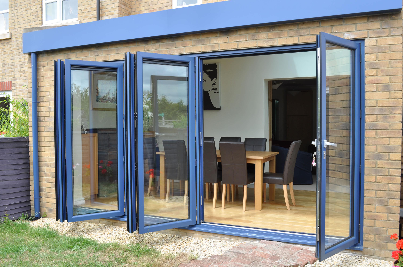 installing aluminium bi-fold doors