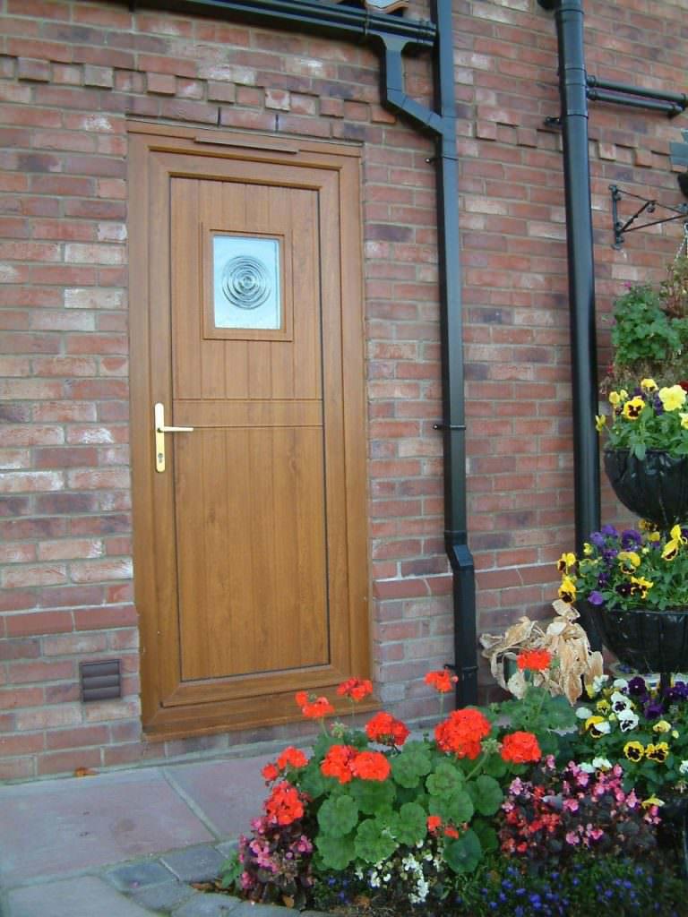 Brown Deceuninck uPVC Residential Door