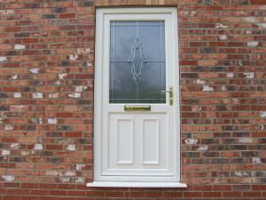 White Deceuninck uPVC Residential Door