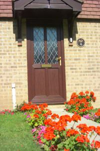 Brown Deceuninck uPVC Residential Door