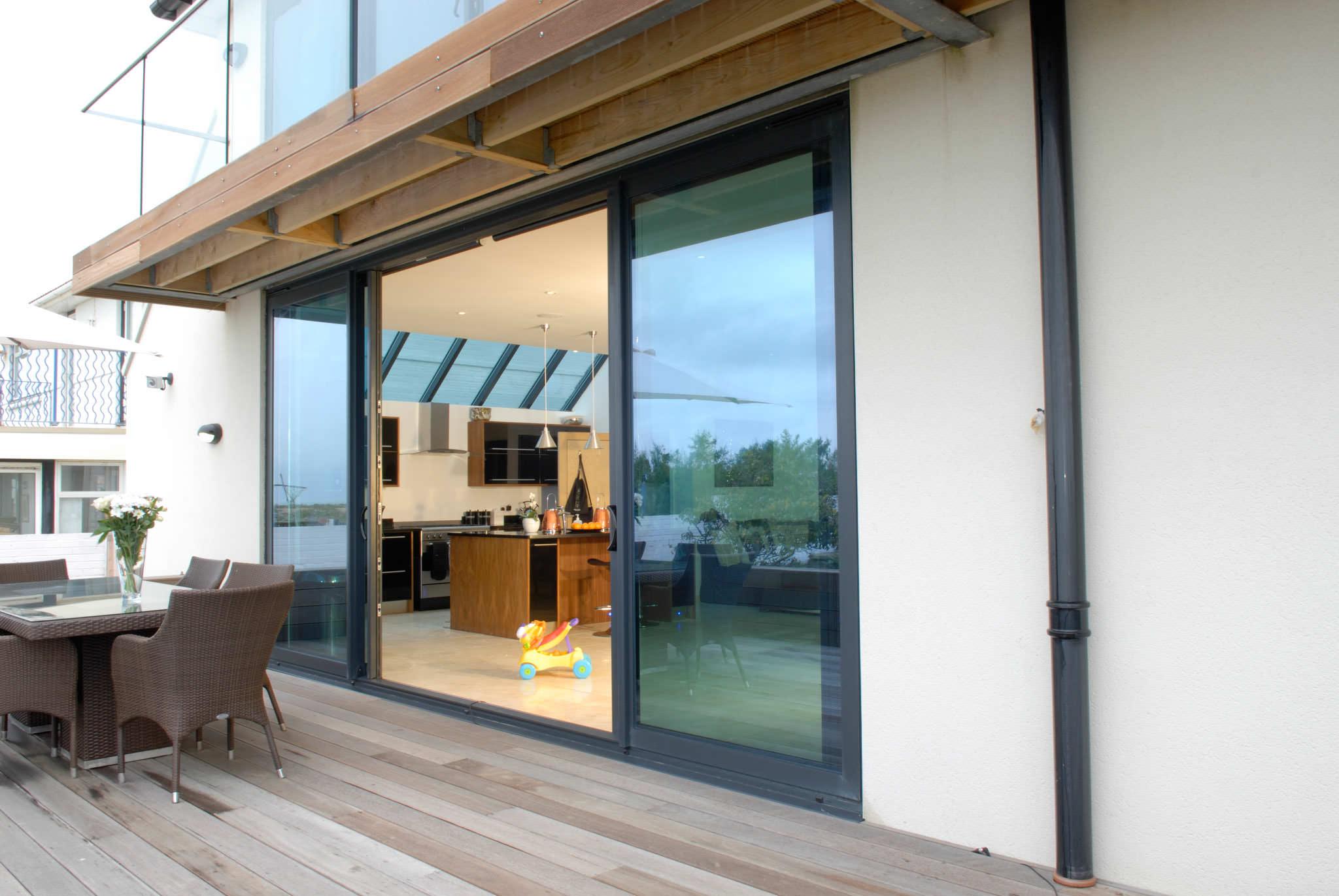 Aluminium Patio Doors Sliding Patio Doors Smarts Visoglide Aluminium