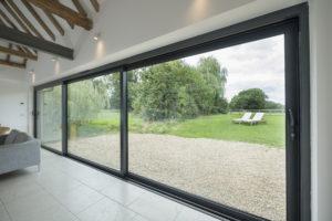 sliding grey patio doors