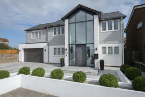 Anthracite grey casement windows replacement