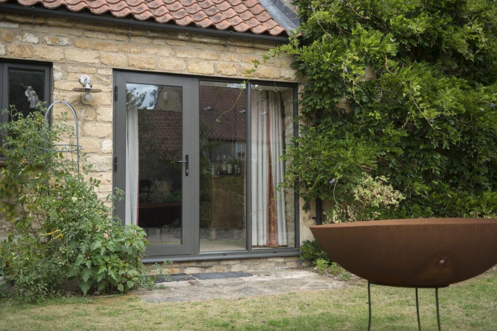 Alitherm Plus Residential door - RAL7022 Umbra grey